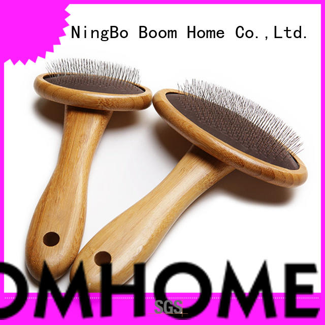 Boom Home bamboo pet grooming brush for business for fur