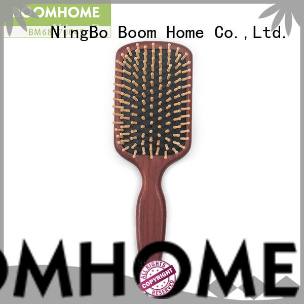 Boom Home anti-static wooden paddle hair brush factory for travel