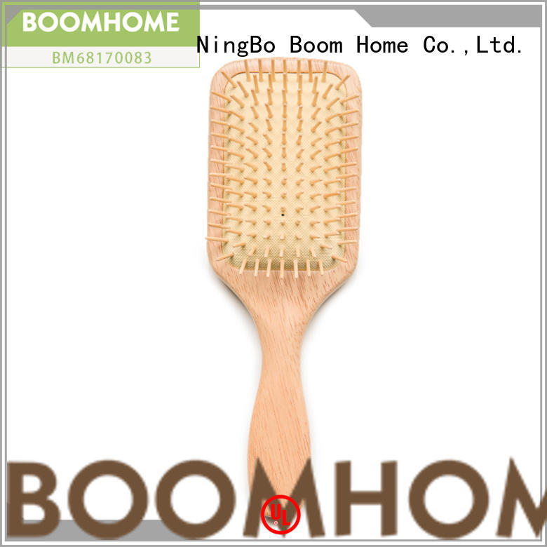 noble wood hair brush airbag with good price for travel