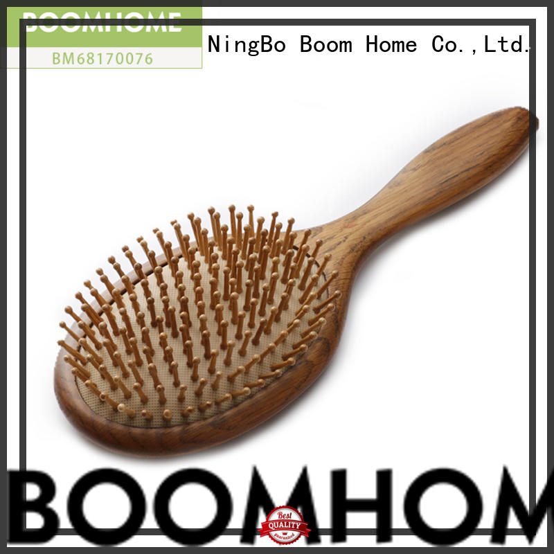 Boom Home eco-friendly wooden hair brush design for hotel