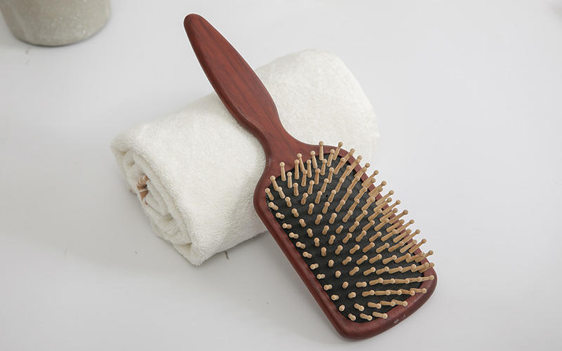 Boom Home horn wooden paddle hair brush design for home-2
