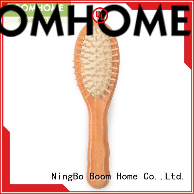 Boom Home round wooden comb with good price for travel