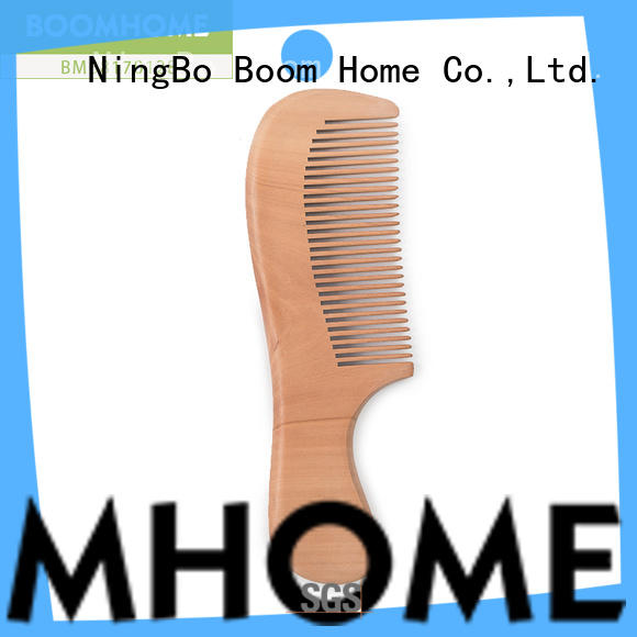 Boom Home shape wooden hair comb design for home