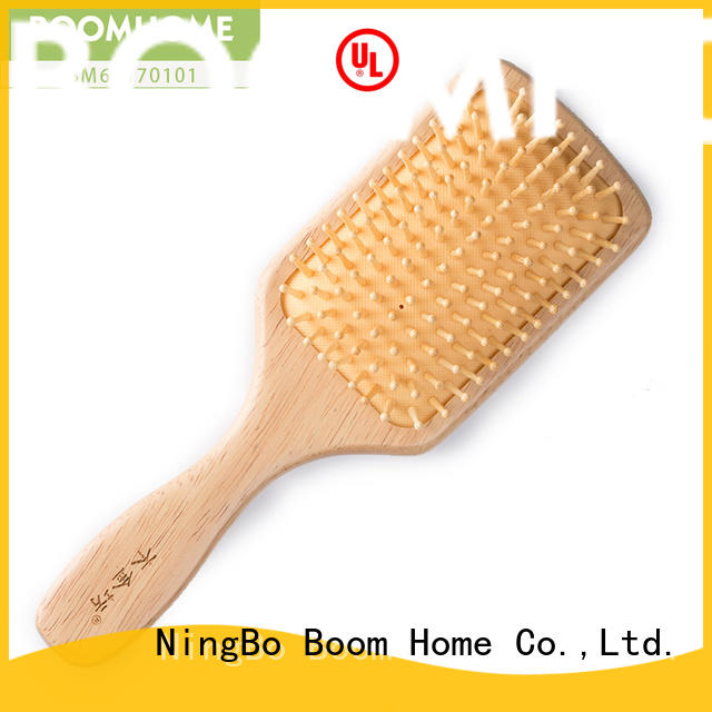 Boom Home natural wooden paddle brush factory for hotel