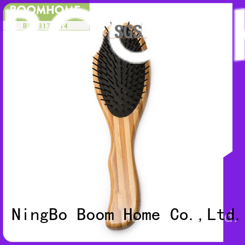 Boom Home natural bamboo paddle brush factory price for thick hair