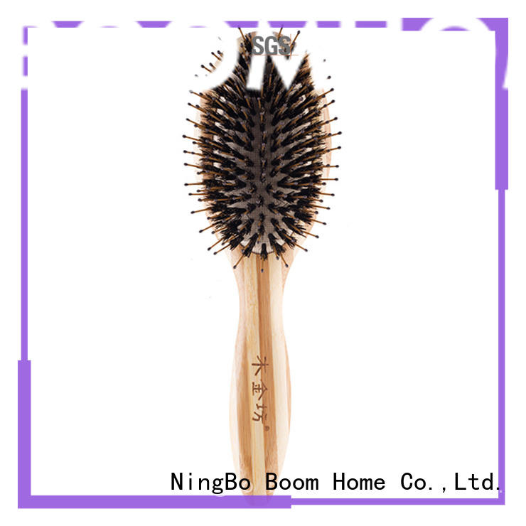 Boom Home wooden boar bristle hair brush inquire now for home