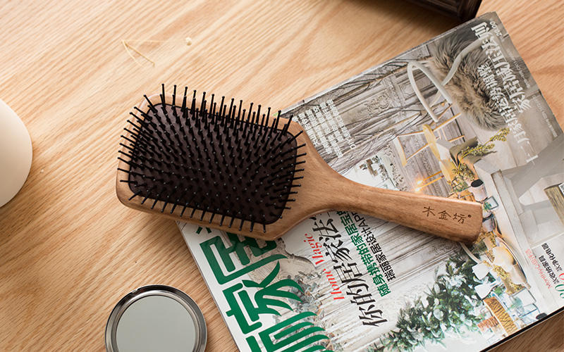 natural wood hair brush holiday design for home-2