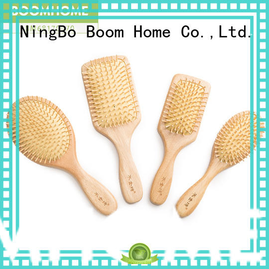 natural wooden paddle hair brush pocket with good price for hotel