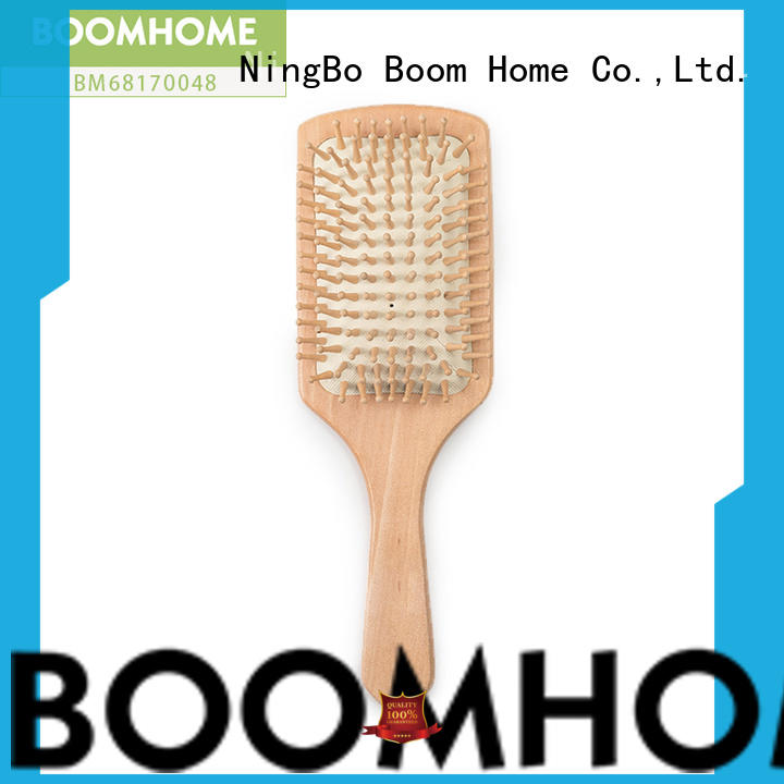 Boom Home quality bamboo paddle brush personalized for thick hair