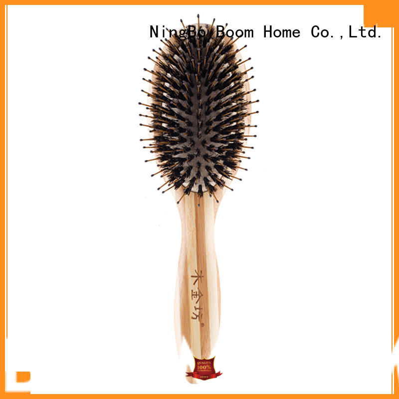 wooden bristle hair brush nylon with good price for bathroom