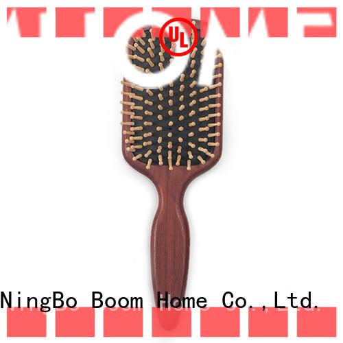 natural wood hair brush black design for home