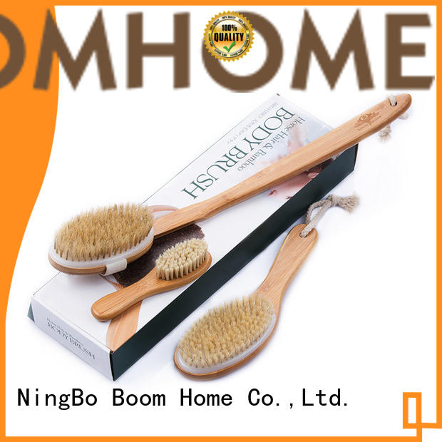 Boom Home handle bath body brush from China for dry skin