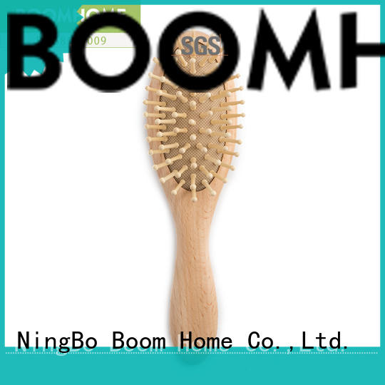 wooden newborn hair brush customized for kids