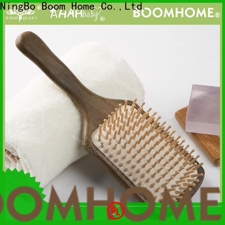 High-quality wooden hair brush facial factory for shop