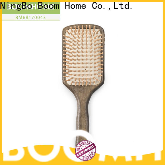Top wooden hair brush without for business for travel