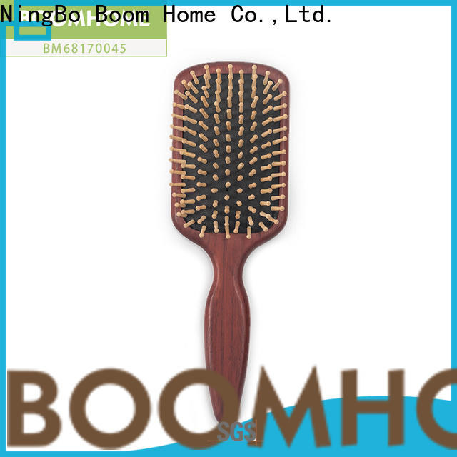 Boom Home portable wooden handle hair brush suppliers for travel