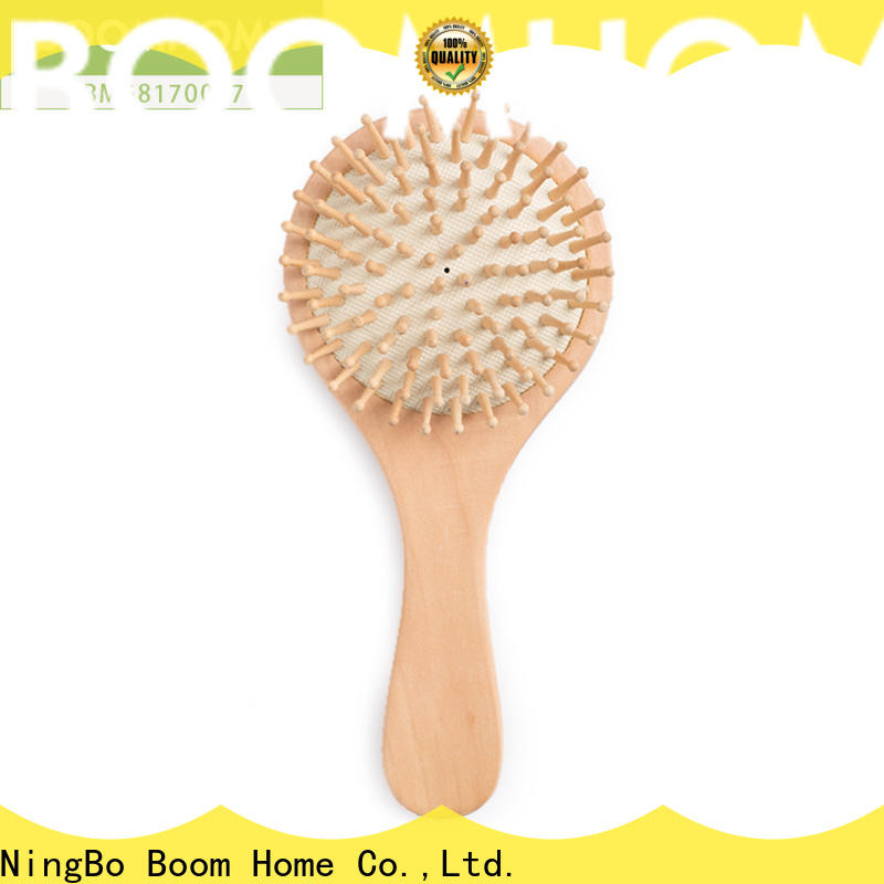 Boom Home logo wooden hair comb factory for home