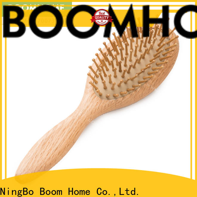 Boom Home carry wood hair brush for business for hotel