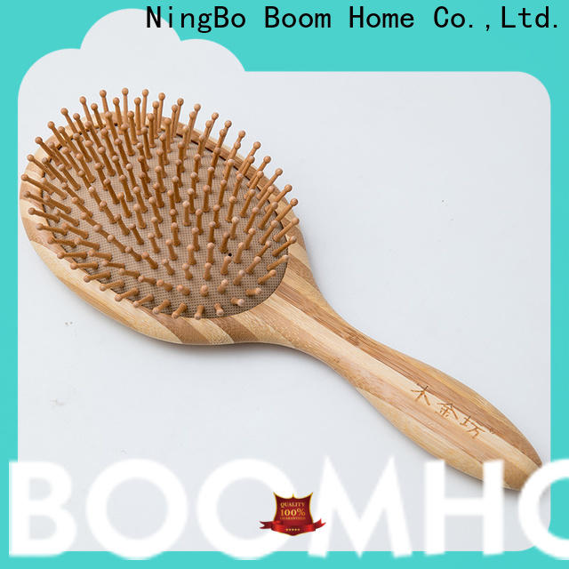 Boom Home labels wooden handle hair brush factory for travel