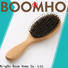 Wholesale wooden paddle hair brush oval supply for travel