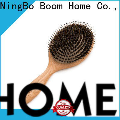 Boom Home Top bamboo paddle brush supply for thick hair