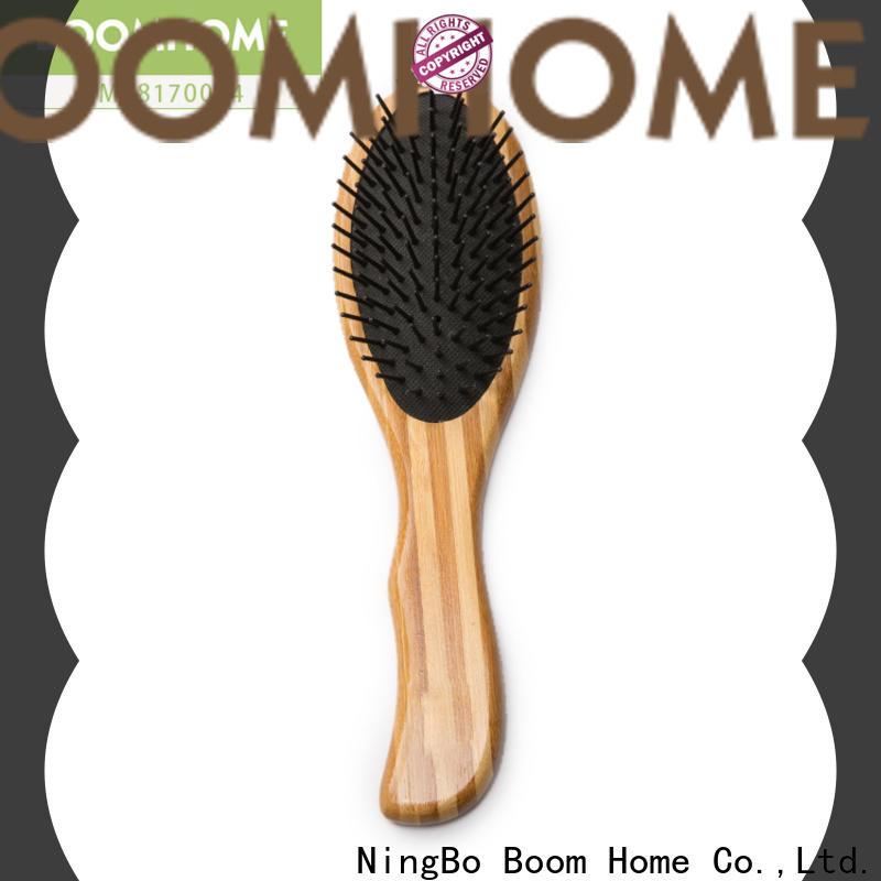 Custom bamboo hair brush carry for business for women