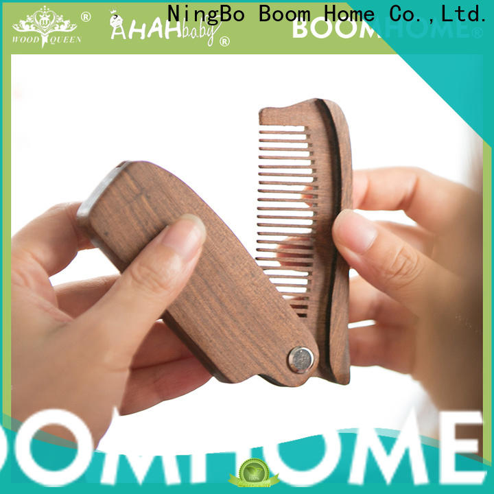 Boom Home Custom wooden hair comb company for hotel