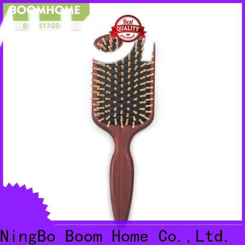 Boom Home pin wood hair brush suppliers for travel