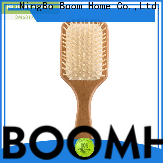 Boom Home Custom wooden paddle hair brush company for travel