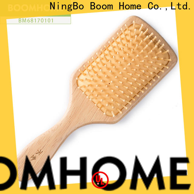Top wooden paddle hair brush easy company for travel