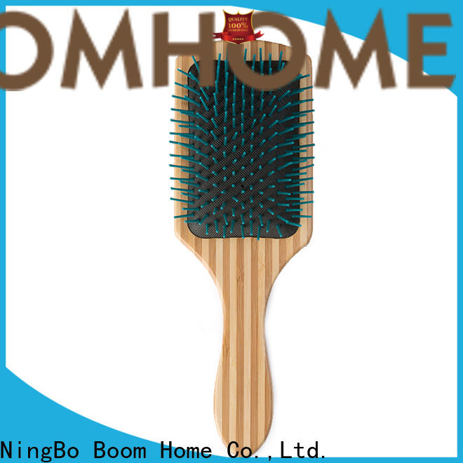 Boom Home air wooden paddle hair brush for sale for hotel