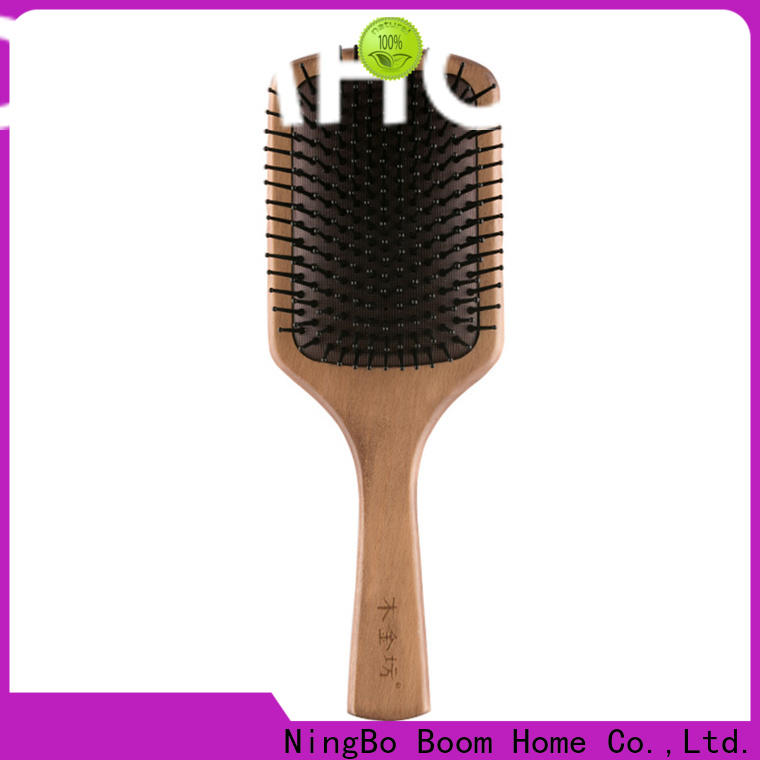 Boom Home men wooden handle hair brush for business for travel