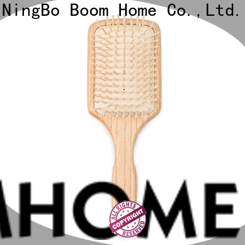 High-quality wood hair brush private manufacturers for home