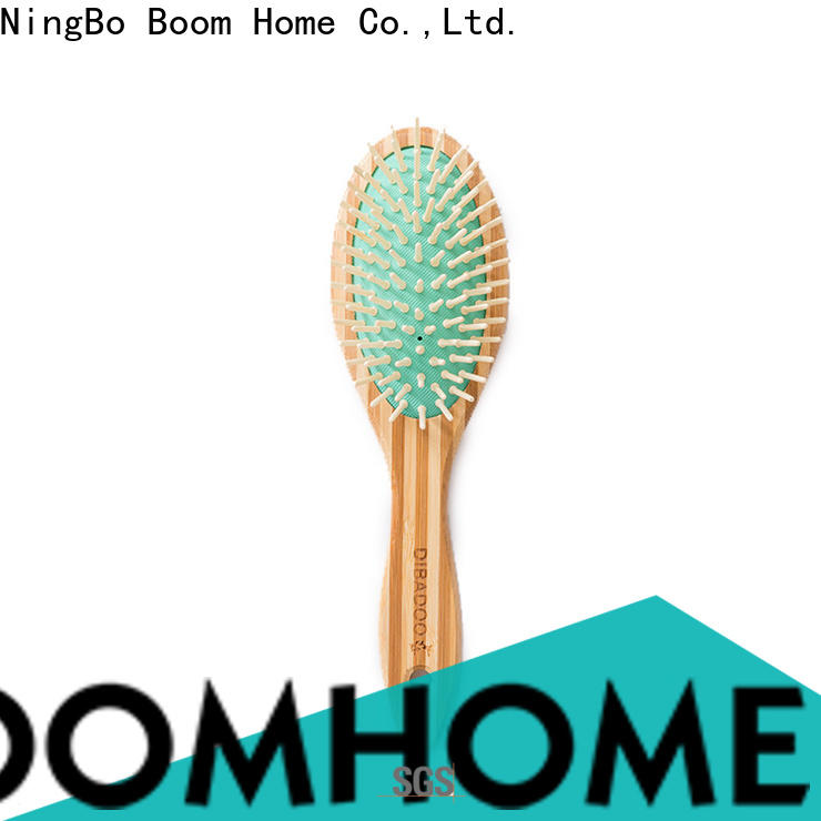 Boom Home Custom bamboo paddle brush company for men