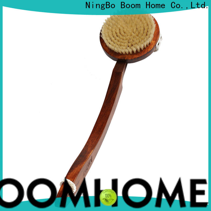 Boom Home bristle wooden body brush supply for shower