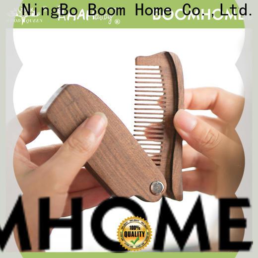 Boom Home design wood hair brush supply for travel