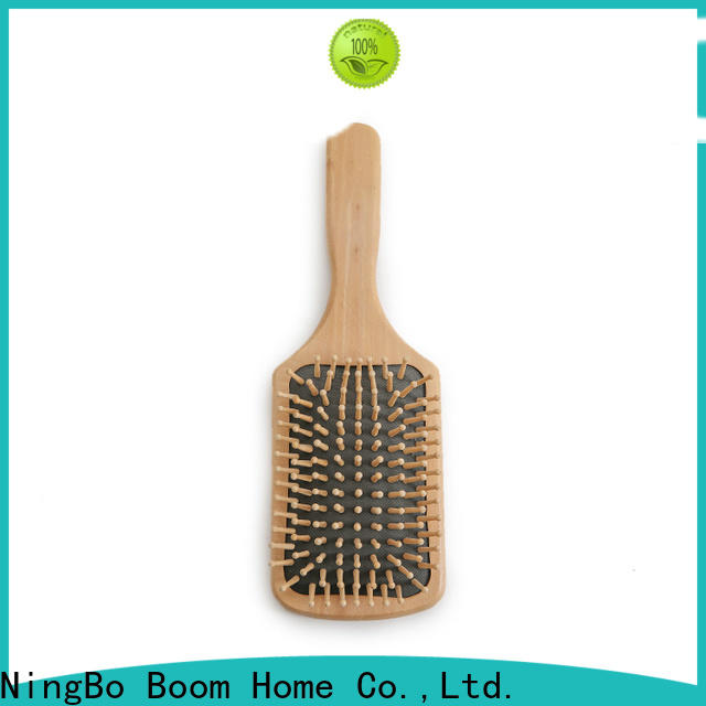 Latest wooden paddle hair brush steel supply for shop