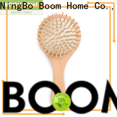 Boom Home carrying wooden paddle hair brush supply for hotel