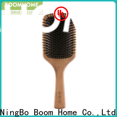 Wholesale wooden hair brush brown supply for travel