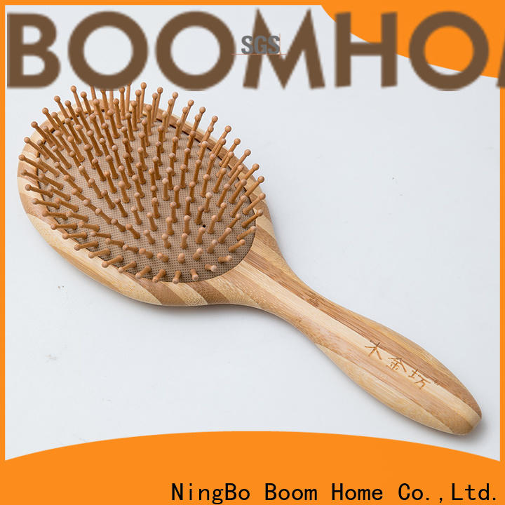 Boom Home pocket bamboo paddle brush supply for curly hair