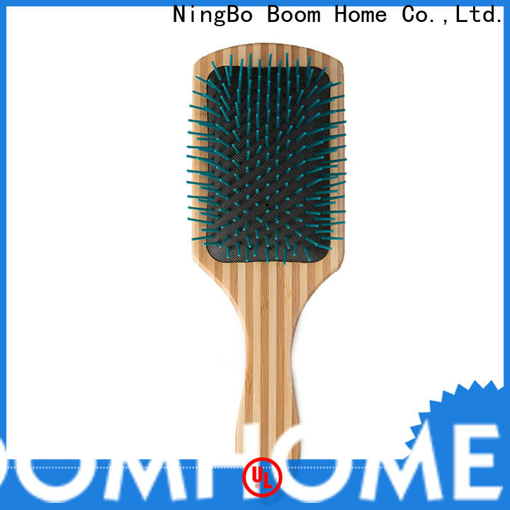Custom wooden paddle hair brush oval manufacturers for hotel