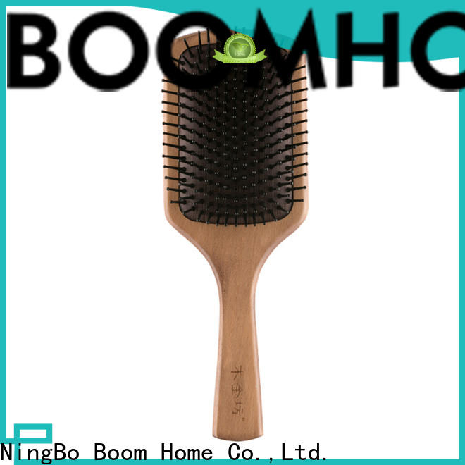 Boom Home Top wooden paddle brush for sale for hotel