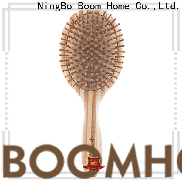 Boom Home round bamboo paddle brush supply for thick hair