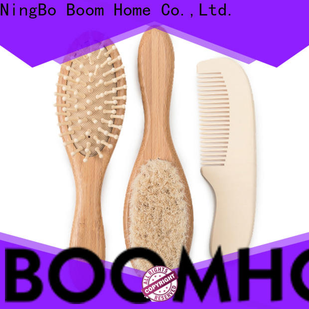 Latest baby hair brush set natural suppliers for household