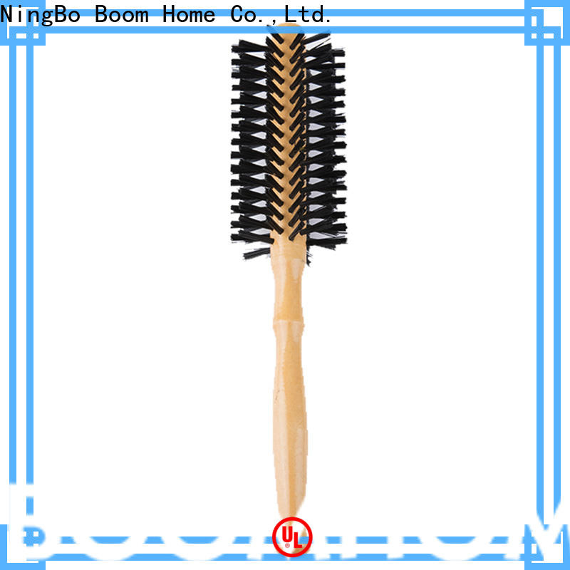 Boom Home handle boar bristle round brush factory for household