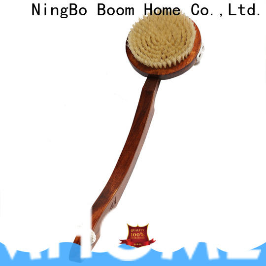 Latest body cleansing brush bamboo company for dry skin