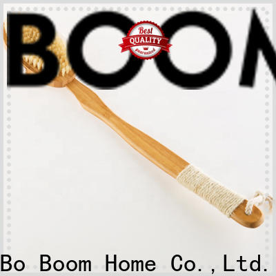 Boom Home bamboo bath brush supply for shower