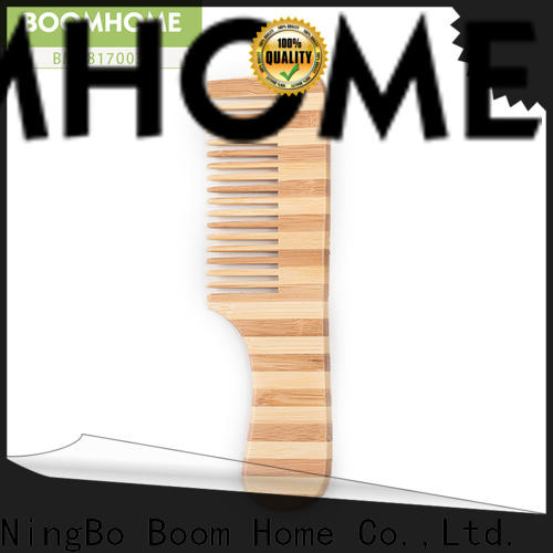 Boom Home small bamboo hair comb suppliers for thick hair