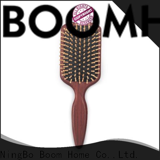 Boom Home Custom wood hair brush supply for hotel