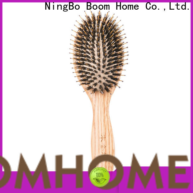 Top wooden paddle brush logo suppliers for hotel
